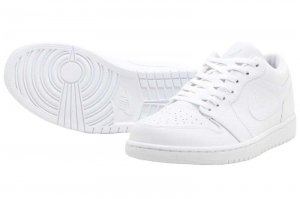 NIKE AIR JORDAN 1 LOW - WHITE/PURE PLATINUM-WHITE