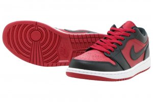 NIKE AIR JORDAN 1 LOW - GYM RED/BLACK-WHITE