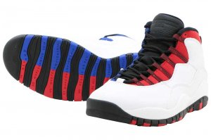 NIKE AIR JORDAN 10 RETRO - WHITE/BLACK-UNIVERSITY RED