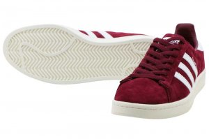 adidas Originals CAMPUS - COLLEGIATE BURGUNDY/RUNNING WHITE/CHALK WHITE