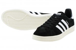 adidas Originals CAMPUS - CORE BLACK/RUNNING WHITE/CHALK WHITE