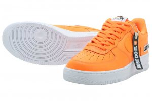 NIKE AIR FORCE 1 07 LV8 JDI LTHR - TOTAL ORANGE