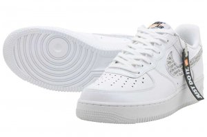 NIKE AIR FORCE 1 07 LV8 JDI LNTC - WHITE/WHITE-BLACK-TOTAL ORANGE