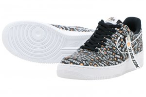 NIKE AIR FORCE 1 07 LV8 JDI - BLACK/BLACK-WHITE-TOTAL ORANGE