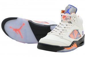 NIKE AIR JORDAN 5 RETRO - SAIL/RACER BLUE-CONE-BLACK