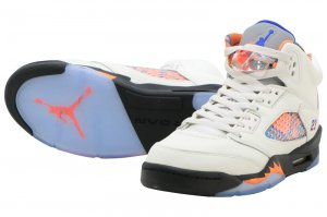 NIKE AIR JORDAN 5 RETRO GS - SAIL/RACER BLUE-CONE-BLACK