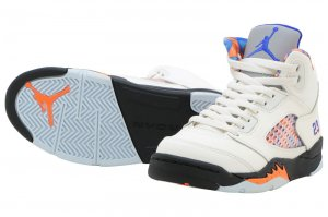 NIKE AIR JORDAN 5 RETRO PS - SAIL/RACER BLUE-CONE-BLACK