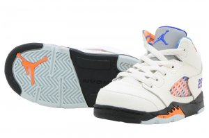 NIKE AIR JORDAN 5 RETRO TD - SAIL/RACER BLUE-CONE-BLACK
