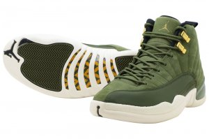 NIKE AIR JORDAN 12 RETRO - OLIVE CANVAS/METALIC GOLD