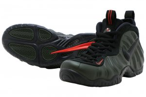 NIKE AIR FOAMPOSITE PRO - SEQUOIA/BLACK-TEAM ORANGE