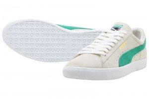 PUMA SUEDE 90681 - Whisper White-Green Flash