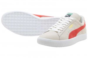 PUMA SUEDE 90681 - Whisper White-Orange.com
