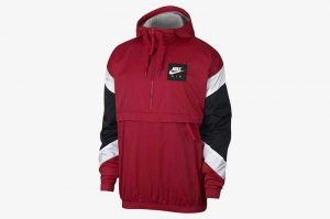 NIKE AS M NSW AIR JKT HD - GYM RED/WHITE-BLACK