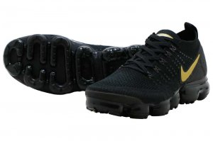 NIKE W AIR VAPORMAX FLYKNIT 2 - BLACK/METALIC GOLD