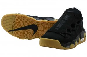 NIKE AIR MORE MONEY - BLACK/BLACK-GUM LIGHT BROWN