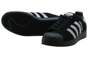 adidas SUPERSTAR - CORE BLACK/SILVER