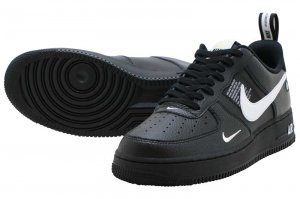 NIKE AIR FORCE 1 07 LV8 UTILITY - BLACK/WHITE-BLACK-TOUR YELLOW