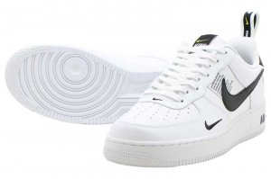 NIKE AIR FORCE 1 07 LV8 UTILITY - WHITE/WHITE-BLACK-TOUR YELLOW