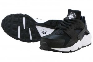 NIKE WMNS AIR HUARACHE RUN - BLACK/BLACK-WHITE