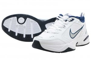 NIKE AIR MONARCH IV - WHITE/METALIC SILVER