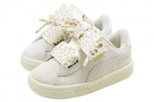 PUMA SUEDE HEART ATH LUXE INFANT - WHISPER WHITE-PUMA TEAM GOLD