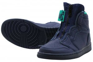 NIKE WMNS AIR JORDAN 1 HIGH ZIP - BLACKENED BLUE/NEPTUNE GREEN