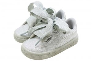 PUMA BASKET HEART HOLIDAY GLAMOUR INFANT - SILVER