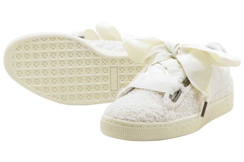 best sneakers 1d597 abcce PUMA BASKET HEART TEDDY WNS - WHISPER WHITE 367030-01