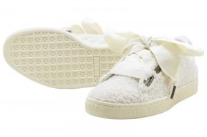 PUMA BASKET HEART TEDDY WNS - WHISPER WHITE