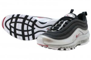 NIKE AIR MAX 97 QS - BLACK/VERSUTY RED-METALIC SILVER