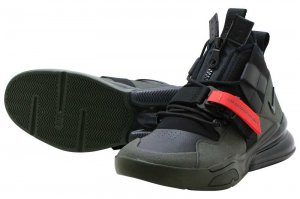 NIKE AIR FORCE 270 UTILITY - SEQUOIA/BLACK-HABANERO RED