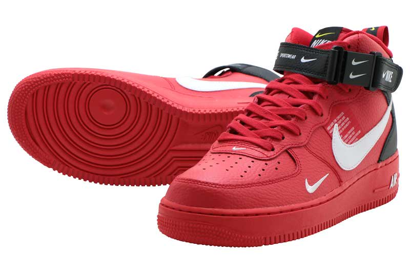 hot sale online 197c3 2cb4b NIKE AIR FORCE 1 MID 07 LV8 - UNIVERSITY RED WHITE-BLACK-TOUR YELLOW  804609-605