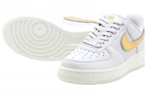 NIKE WMNS AIR FORCE 1 '07 METALIC - VAST GREY/METALIC GOLD-WHITE