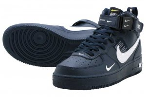 NIKE AIR FORCE 1 MID 07 LV8 - OBSIDIAN/WHITE-TOUR YELLOW