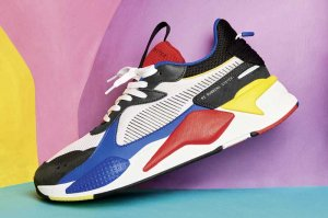 PUMA RS-X TOYS - PUMA WHITE/PUMA ROYAL/HIGH RISK RED