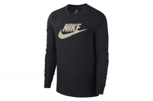 NIKE AS M NK PYTHON FUTURA LS TEE - BLACK