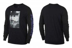 NIKE JORDAN LGC AJ 11 PHOTO LS TEE - BLACK