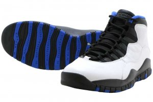 NIKE AIR JORDAN 10 RETRO - WHITE/BLACK-ROYAL BLUE