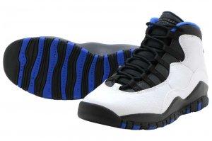 NIKE AIR JORDAN 10 RETRO GS - WHITE/BLACK-ROYAL BLUE