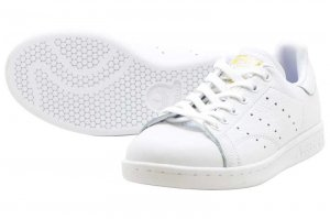 adidas STAN SMITH W - RUNNING WHITE/REAL LILAC/RAW GOLD