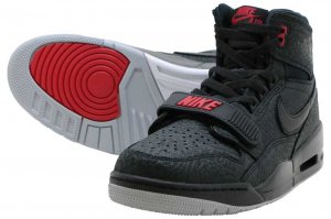 NIKE AIR JORDAN LEGACY 312 - BLACK/BLACK-VERSITY RED