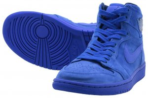 NIKE WS AIR JORDAN 1 RETRO HI PREM - BLUE VOID/RACER BLUE