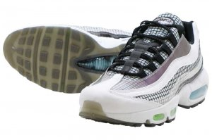 NIKE AIR MAX 95 LV8 - WHITE/BLACK-BLUE GAZE