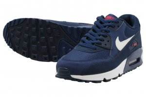 NIKE AIR MAX 90 ESSENTIAL - MIDNIGHT NAVY/WHITE-UNIVERSITY RED