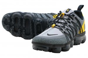 NIKE AIR VAPORMAX RUN UTILITY - WOLF GREY/BLACK-AMARILLO