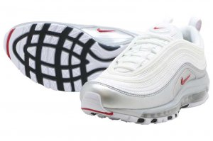 NIKE AIR MAX 97 QS - WHITE/VERSUTY RED-METALIC SILVER