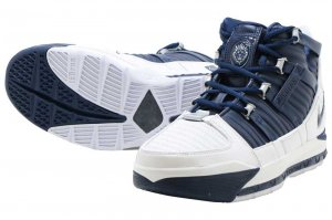 NIKE ZOOM LEBRON III QS - WHITE/MIDNIGHT NAVY