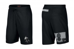 NIKE JORDAN JUMPMAN LWT FLEECE SHORTS - BLACK/WHITE