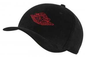 NIKE JORDAN CLASSIC 99 WING CAP - BLACK/UNIVERSITY RED
