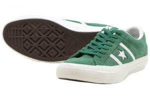 CONVERSE STAR&BARS SUEDE TEAMCOLORS - GREEN
